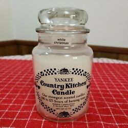 Old Original Yankee Candle Country Kitchen 22 Oz Jar Candle White Christmas $25.00