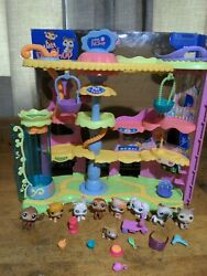 LPS Huge Bundle Littlest Pet Shop Round and Round Pet Town Playset Pet Cats Dogs $55.00