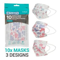 Dr. Talbot#x27;s 10 Pack Disposable Kids Face Masks Girls Ages 6 12 $4.49