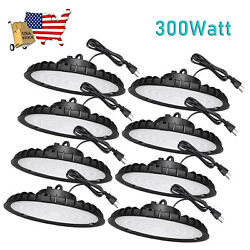 8 Pack 300W UFO High Bay Light 300 Watts Warehouse Led Commercial Light Fixture