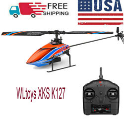 WLtoys XKS K127 RC Helicopter Remote Control Aircraft Fixed Height 1Battery P8W6 $60.89