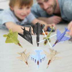 8 Pieces Airforce Jet Play Set Combat Jet Model Helicopter Toys Biplane Toy $25.54