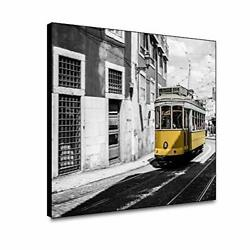 Yongto Black and White Canvas Framed Wall Art for Living Room Bedroom Yellow ... $35.60