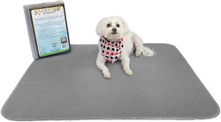 Kluein Pet Washable Pee Pads for Dogs 2 Pack L 34x36 Grey Reusable Puppy Pads $37.32