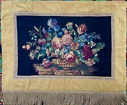 NEW wot 37x44quot; Floral Wall Over the Fireplace Hanging Tapestry Black Background $39.99