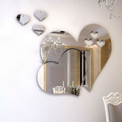 5Pcs Acrylic 3D Mirror Effect Wall Sticker Room Decor Removable Art Decal Home $5.59