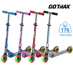 Gotrax KX6 Kick Scooter Adjustable Scooter for Kids Flashing LED Light Wheels $64.99