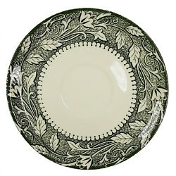 Scio Pottery Replacement Saucer Avon Leaf Vine Green Ivory MCM Drinkware $4.00