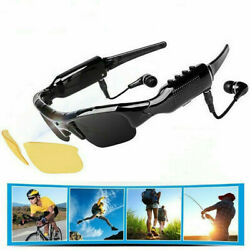 Cycling Wearable Mobile Bluetooth Sunglasses 1080P Mini Camera Glasses Camcorder $31.46