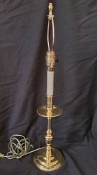VTG Baldwin Brass 26quot; James River Colonial Williamsburg Candlestick Table Lamp $99.99