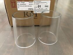 Restoration Hardware PAUILLAC Glass Replacement Shades set of 2 $25.00