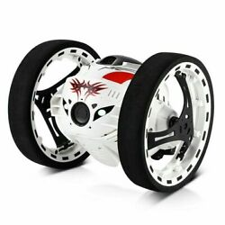 Rechargeable Remote Control Jumping Bounce Car White Flips Spins amp; Trick Fun Toy $44.95