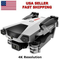 4K Camera FPV Drone Quadcopter Foldable Obstacle Avoidance WI FI 2Battery $68.49