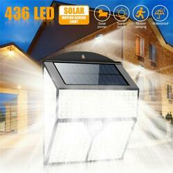 Outdoor Commercial Solar Wall Lights Waterproof 128LED Dusk to Dawn Street Lamps