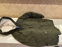 Lands#x27; End Kids Expedition Down Winter Parka Mossy Bark Small US:8 $90.00
