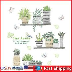Removable Daily Waterproof PVC Plants Wall Stickers Home Kids Bedroom Decal $8.54
