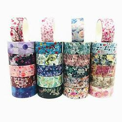 24Rolls Set Flower Floral Washi Tape Paper Masking Tape for DIY Diary $12.69