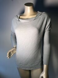 Lucky Brand Viscose spandex cowl neck top seafood blue NWT Large Bin W $29.99