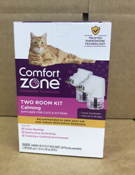 COMFORT ZONE Two Room Kit Calming Diffuser For multi cat Cats amp; Kittens Upc3506 $15.00