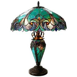 Tiffany Table Desk Lamp Stained Glass Mission Style Lighting Slag Art Victorian $178.23
