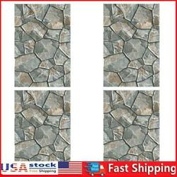 4pcs 3D Self adhesive Tile Stickers PVC Wall Decals for Kitchen Dining Room $10.73