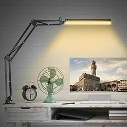 """LED Desk Lamps 36"""" Long Metal Swing Arm Desk Lamp with Clamp Eye Caring Dimma... $52.63"""