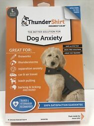 Thundershirt Dog LARGE 41 64 lbs Gray Solution For Anxiety Upc1172 $22.00