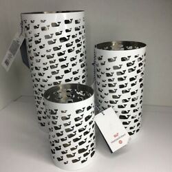 Vineyard Vines Target Stainless Steel White Whale Candle Lantern Set of 3 $39.99