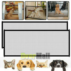 2PCS Portable Indoor Baby Safety Gates Pets Cat Dog Mesh Net Home Kitchen Stairs $10.81