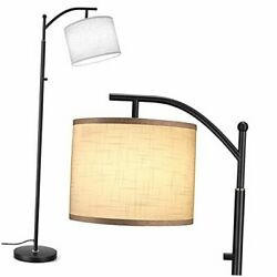 LED Floor Lamp 3 Color Temperatures Modern Lamp with Rotary Switch Black $63.12