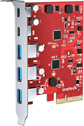 Inateck PCIe to USB 3.2 Gen 2 Card with 20 Gbps Bandwidth 3 USB Type A and 2 US $60.99