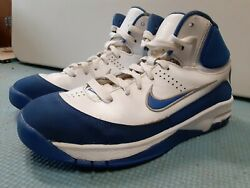 Nike Elite Youth Basketball Sneakers Size boys 3Y white blue shoes hightops $15.99