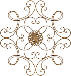 Besti Scrolled Metal Medallion Wall Decor Vintage Decoration for Home Kitchen $51.00