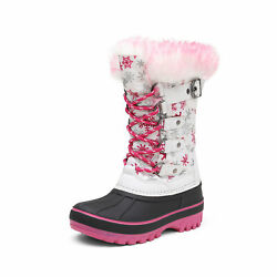 Boys Girls Snow Boots Insulated Winter Warm Knee High Ski Boots Kids Size 9T 6 $28.59