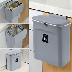 2.4 Gallon Fashion Kitchen Compost Bin with Lidfor Kitchen Hanging Trash Can $22.99