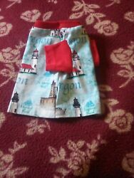 Dog Red T shirt Lighthouse Fabric pet Costume Dog Supplies size Small $5.99