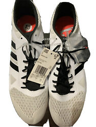 Adidas Adizero MD Track Spikes Mens 13 B37493 Cloud White Shock Red Mid Distance $45.00
