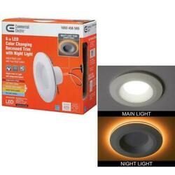 Commercial Electric 6 quot; LED Color Changing Recessed Trim with Night Light