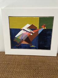 wall art canvas paintings abstract cubism rooster $200.00