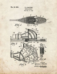Snowshoe Harness Patent Print Old Look $8.49