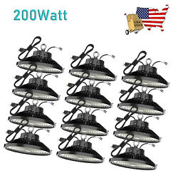 12Pack 200W UFO Led High Bay Light Warehouse Factory Commercial Light Fixtures