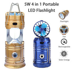 Solar Rechargeable LED Flashlight Power Camping Tent Light Torch Lantern Lamp $14.90
