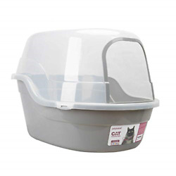 Petphabet Covered Litter Box Jumbo Hooded Cat Litter Box Holds Up to Two Small $109.74
