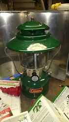 COLEMAN LANTERN 228 F 2 MANTLE WITH STAINLESS CUSTOM CASE 5052 H34 EXC. $150.00
