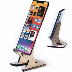 Mini Foldable and Flip Cell Phone Tablet Stand Universal Wooden Charging $5.23