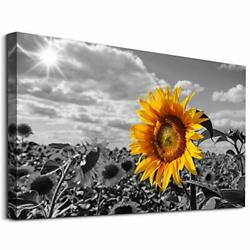 Canvas Wall Art for Bedroom Wall Decor 12x16inches Yellow Sunflowers 1 Piece $26.09