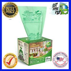 100% Compostable Trash Bags 2.6 Gallon 9.84 Liter 100 Count... NEW $18.99
