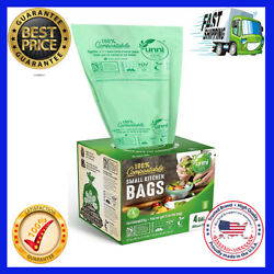 100% Compostable Bags 4 Gallon 15 Liter 200 Count Extra Thick 0.75 Mil...HOT $33.99
