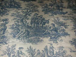 Waverly Classics Set Of 2 Country Life Blue Toile Lined Curtain Panels $48.00
