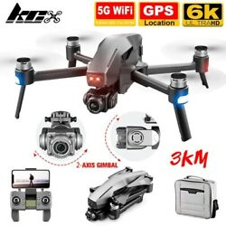 2021 M1 Pro 5G Wifi FPV 2 Axis Gimbal Quadcopter with Camera 4K Drone GPS 3km $176.40